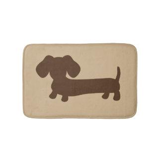 Brown et couverture bronzage de tapis de bain de