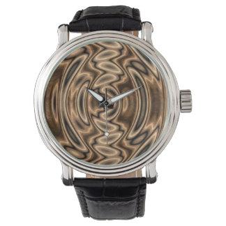 Brown et montre de remous d'abrégé sur noir montres bracelet