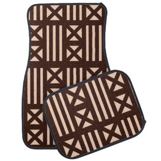 Brown foncé MudCloth a inspiré la croix de Tapis De Sol