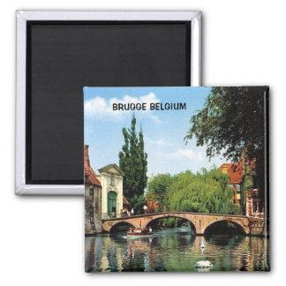 BRUGGE, BELGIË VIERKANTE MAGNEET