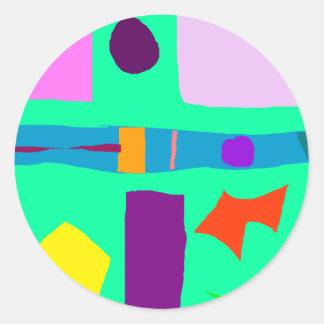 Bruggen van de Rivier van de Oranje Knuppel van de Ronde Sticker
