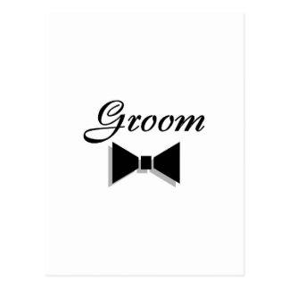 Bruidegom (Zwarte Vlinderdas) Briefkaart