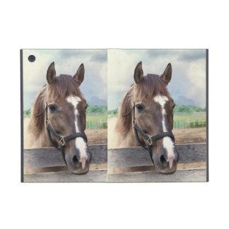 Bruin Paard met het MiniHoesje van Powis van de Te iPad Mini Hoesje