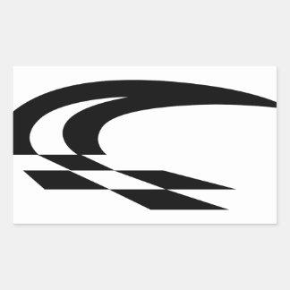 Bruissement de drapeau sticker rectangulaire