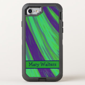 Bruissement vert-bleu de couleur coque OtterBox defender iPhone 8/7