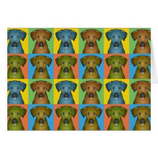 Bruit-Art de bande dessinée de chien de Rhodesian Carte De Vœux