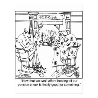 Brûlez votre contrôle de pension pour maintenir cartes postales
