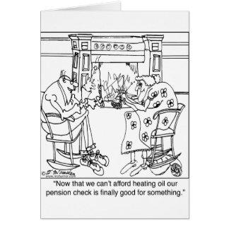 Brûlez votre contrôle de pension pour maintenir ch carte de vœux
