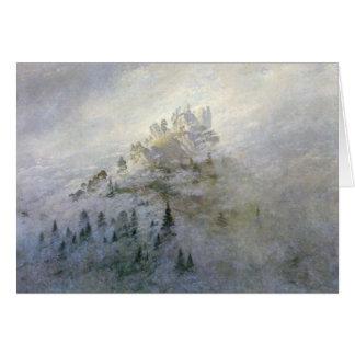 Brume d'hiver sur les montagnes 1808 carte de vœux