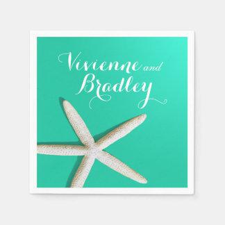 Brume d'océan de la plage   de doigts d'étoiles de serviette en papier