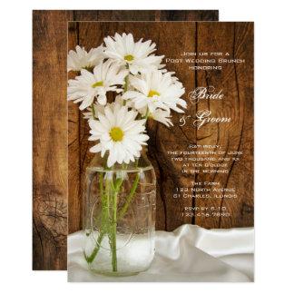 Brunch de mariage de pot de maçon et de courrier carton d'invitation  12,7 cm x 17,78 cm