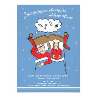Carte Brune d'annonce de grossesse de carte de Noël