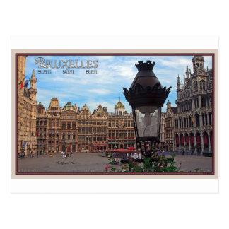 Bruxelles - l'endroit grand carte postale