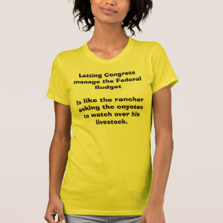 Budget du congrès, T-shirt de bétail de coyotes