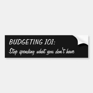 Budgétisation de 101 : Cessez de dépenser ce que Autocollant De Voiture