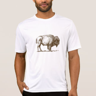 Buffalo de bison de Brown T-shirt