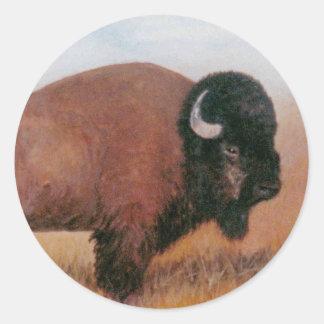 Buffalo Sticker Rond