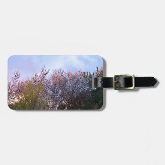 Buissons ensoleillés étiquette à bagage