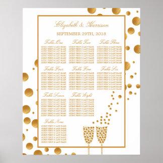 Bulles de Champagne d'or épousant le diagramme