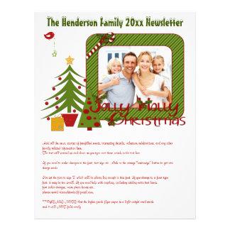 Bulletin d'information de fête de Noël avec des ph Prospectus 21,6 Cm X 24,94 Cm