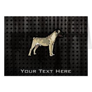 Bullmastiff grunge carte de vœux