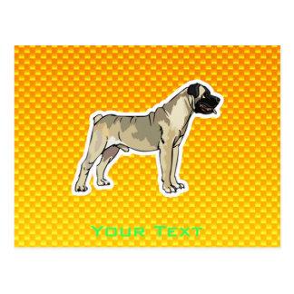 Bullmastiff jaune-orange carte postale