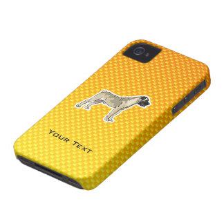 Bullmastiff jaune-orange étui iPhone 4