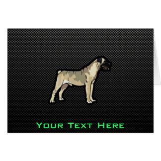 Bullmastiff lisse carte de vœux