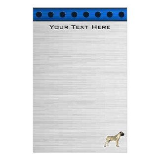 Bullmastiff ; Regard en métal de Bruhsed Motifs Pour Papier À Lettre
