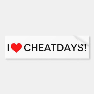 Bumpersticker de cheatdays du coeur I Autocollant De Voiture