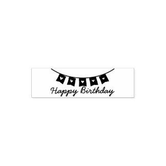 Bunting van het hart Gelukkige Verjaardag Zakstempel