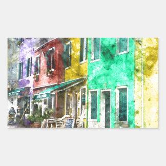 Burano Italie près de Venise Italie Sticker Rectangulaire