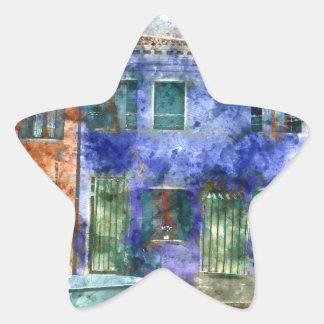 Burano près de Venise Italie Sticker Étoile
