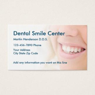 Bureau de dentiste carte de visite standard