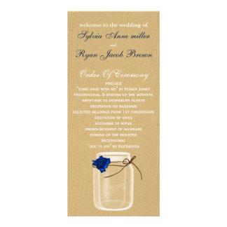 burla, programme de mariage de pot de maçon de carte double