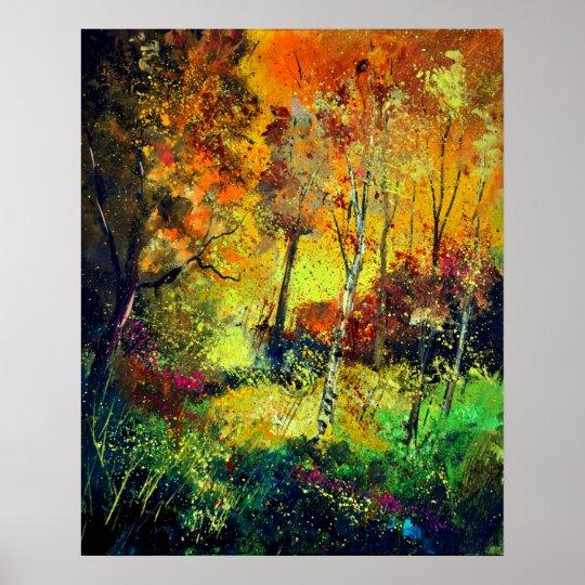 burning autumn poster