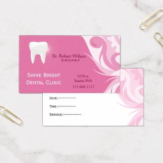 Businesscards dentaires avec la carte de