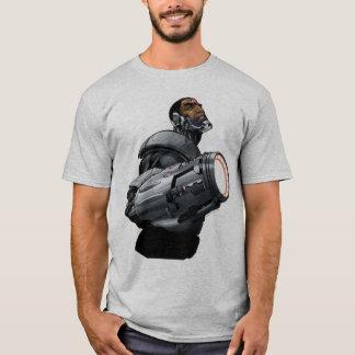 Buste de cyborg et d'arme t-shirt