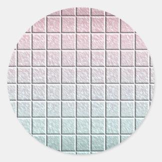 But multi Écrire-sur le métier de papier décoratif Sticker Rond