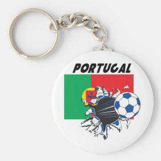 Butin du football du Portugal Porte-clé Rond