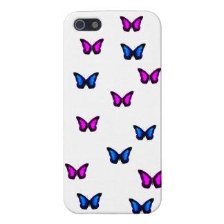 Butteflies bleu et pourpre coque iPhone 5