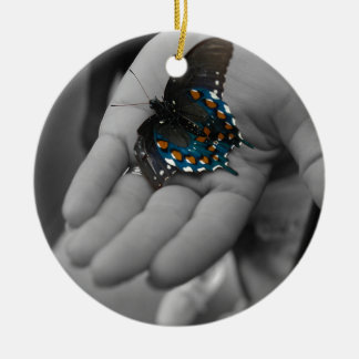 Buttefly à disposition ornement rond en céramique