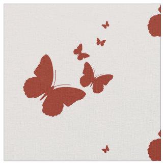 butterflys roses tissu