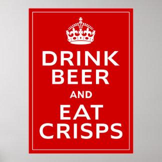 Buvez de la bière et mangez de la bière britanniqu poster