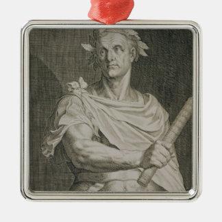 C. empereur de Jules César (100-44 AVANT JÉSUS Ornement Carré Argenté