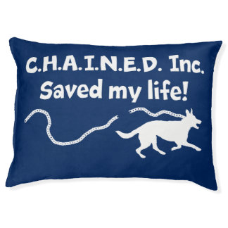 C.H.A.I.N.E.D. Inc. Bewaard Mijn Bed van de Hond Hondenbedden