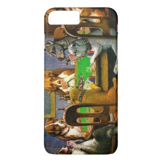 C.M. Chiens de Coolidge jouant au poker Coque iPhone 8 Plus/7 Plus
