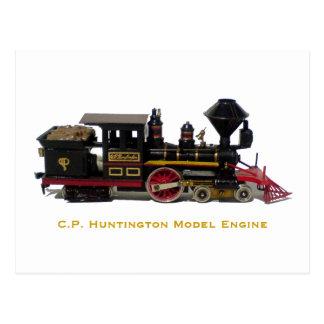 C.P. Carte postale modèle de moteur de Huntington