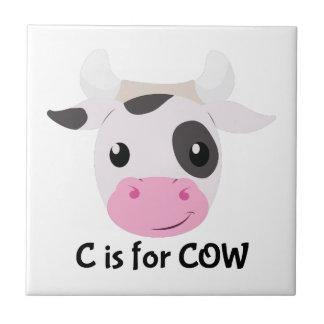 C pour la vache carreau en céramique