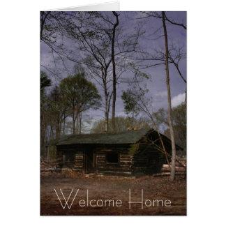 Cabine de retraite, maison bienvenue carte de vœux